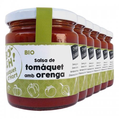 Salsa de tomate Bouquet d'Hort con orégano, lote de 6