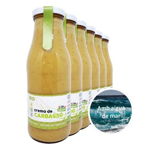 Crema de carbassó 470 ml amb aigua de mar, lot de 6 unitats